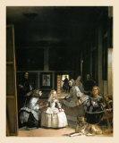 Les Menimes, 1656 Print by Diego Velázquez