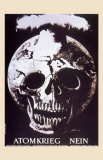 Atomkrieg Nein, 1954 Poster by Hans Erni