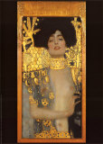 Giuditta Affischer av Gustav Klimt