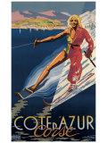 Cote d'Azur Corse Giclee Print by E. Ter