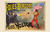 Folies-Bergeres, Miss Holtom - Poster