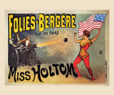 Folies-Bergeres, Miss Holtom Poster