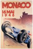 Grand Prix de Monaco 1948 Reproduction procédé giclée par Georges Mattei
