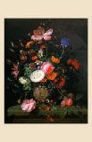 Bouquet de Fleurs dans un Vase de Pierre, 1677 Posters by Jacob van Walscapelle