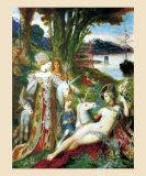 Les Licornes Prints by Gustave Moreau