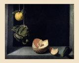 Coing, Chou, Melon et Concombre Print by Juan Sanchez Cotan
