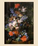 Bouquet de Fleurs, Vers 1730 Print by Jan van Huysum