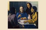 Les Disciples d'Emmaus Poster von Han Van Meegeren