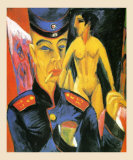 Self-Portrait as a Soldier, c.1915 Art by Ernst Ludwig Kirchner
