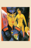 Self-Portrait as a Soldier, c.1915 Prints by Ernst Ludwig Kirchner