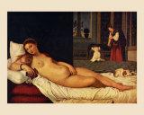 La Venus d'Urbin Poster by  Titian (Tiziano Vecelli)
