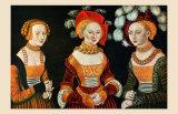 Les Trois Demoiselles Poster by Lucas Cranach the Elder