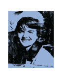 Jackie, c.1964 (blue) Poster by Andy Warhol