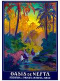 Oasis de Nefta Impression giclée par Jacques de la Neziere
