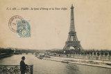 Le Quai d'Orsay et la Tour Eiffel Prints by Hugo Wild