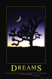Dromen, Dreams poster met Engelse tekst Print