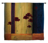 Poppy Tile I Wall Tapestry by Don Li-Leger