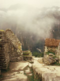 Looking Down Ancient Remains of Machu Picchu, Peru Prints by Pete Oxford