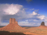 Rain Cloud Over Monument Valley, Utah, USA Print by David Noton