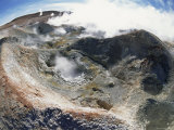 Looking Down into Thermal Vents of Hot Springs, Altiplano, Bolivia Print by Doug Allan