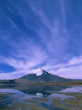 Lake Chungara, Highest Lake in the World (4,500M), Parinacota Volcano, Lauca National Park, Chile Photographic Print by Pete Oxford