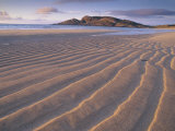 Sand Patterns on the Beach Coll Inner Hebrides, Scotland, UK Poster by Niall Benvie