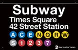 Metro Times Meydanı-42. Cadde İstasyonu (Subway Times Square-42 Street Station) - Metal Tabela