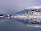 Loch Mullardoch, Glen Cannich, Winter in the Highlands, Scotland Upland Lochs, Snow, Lakes Photographic Print by Niall Benvie