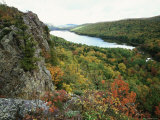Porcupine Mountains Wilderness State Park in Autumn, Michigan, USA Posters by Larry Michael