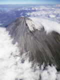 Aerial View of Summit Cone of Sangay, Dormant Volcano, Ecuador Premium Photographic Print by Doug Allan