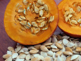 Sliced Pumpkin with Pumpkin Seeds (Cucurbita Sp) Europe Photographic Print by  Reinhard