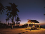 Rest House for Fishermen on Beach, Pamilacan Is, Philippines Photographic Print by Jurgen Freund