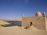 Aga Khan Mausoleum on River Nile, Aswan, Egypt Prints by Staffan Widstrand