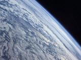 Earth's Horizon Against the Blackness of Space Photographie par  Stocktrek Images