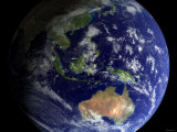 Full Earth from Space Showing Australia Impressão fotográfica por Stocktrek Images