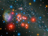 Red Super Giant Cluster Photographic Print by  Stocktrek Images