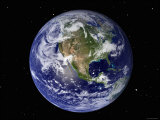 Full Earth Showing North America (With Stars) Photographic Print by  Stocktrek Images