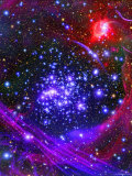 The Arches Star Cluster from Deep Inside the Hub of Our Milky Way Galaxy Lámina fotográfica por Stocktrek Images