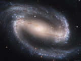 Beautiful Barred Spiral Galaxy NGC 1300, Hubble Space Telescope Photographie par Stocktrek Images 