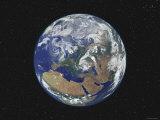 Earth Centered on Europe Papier Photo par  Stocktrek Images