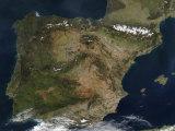 The Iberian Peninsula Impressão fotográfica por Stocktrek Images