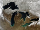 Grandes lagos Impressão fotográfica por Stocktrek Images