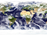 This Spectacular Image is the Most Detailed True-Color Image of the Entire Earth to Date Papier Photo par  Stocktrek Images
