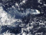 Eruption of Piton De La Fournaise, Reunion Island, April 5, 2007 Impressão fotográfica por Stocktrek Images