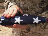 The United States Flag is a Symbol for Independence Fotografie-Druck von  Stocktrek Images