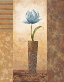 Brazen Blue Tulip Prints by  Nan