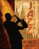 Jazz in New York, 1962 Plakat af Conrad Knutsen