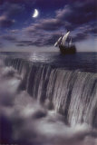 Sailboat and Waterfall at Earth's End Photo