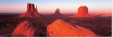 Sunrise, Monument Valley Stretched Canvas Print