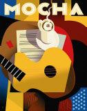 Cubist Mocha Posters by Eli Adams